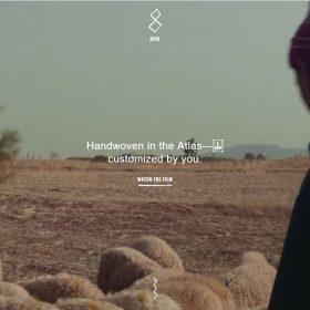 モロッコ絨毯の魅力を伝えるホームページデザイン「Beni Rugs」