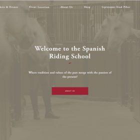 歴史を感じる学校の雰囲気を伝えるWEBデザイン「Spanish Riding School」