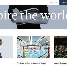 学校の雰囲気を伝えるホームページデザイン「Westbourne Grammar School」