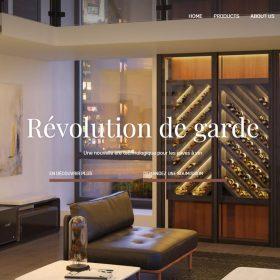 ワインセラーを魅力的に見せるウェブデザイン「The Wine Square」