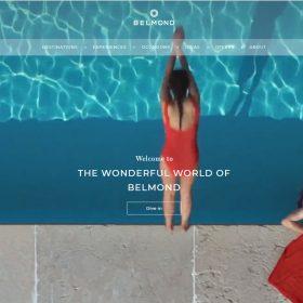 「Belmond」動画でブランドイメージを伝えるホームページデザイン
