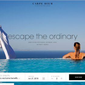 「Carpe Diem」豪華さを伝えるホームページデザイン