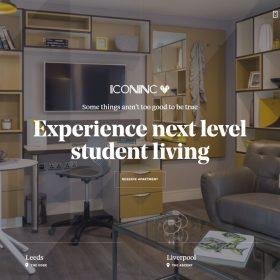 「IconInc」学生向け住宅らしいWEBデザイン