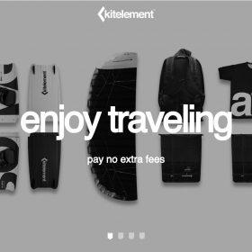 「Kitelement」印象的な形の組み合わせのホームページデザイン