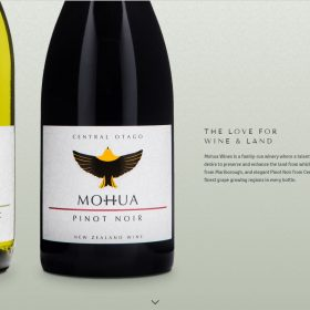 「Mohua Wines」縦長シングルページで魅せる