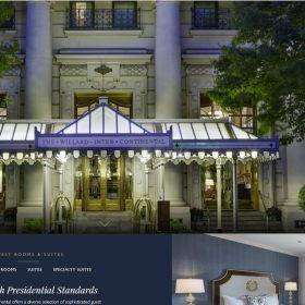 「The Willard」ワシントンの高級ホテルらしいホームページデザイン