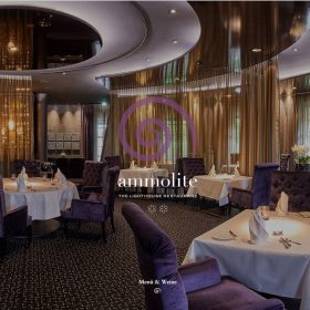 「Ammolite」写真で見せるレストランのホームページデザイン