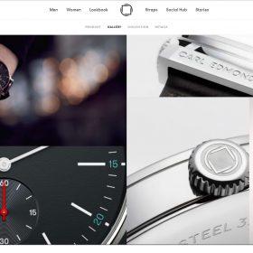 時計ブランド「Carl Edmond」のサイトデザインがシンプルだけどうまい