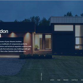 海外の工務店(注文住宅建築会社)のWEBデザイン「Caledon Build」
