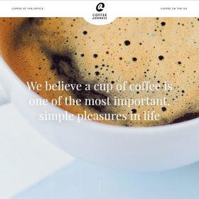 「Coffee Address」コーヒー関係企業と分かりやすいホームページデザイン