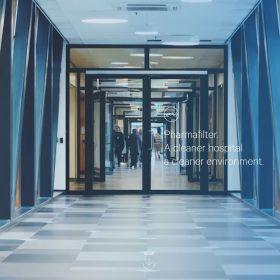 「Pharmafilter」病院関連機器の企業らしいクリーンなWEBデザイン
