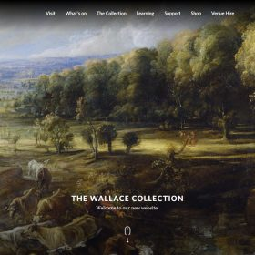 「The Wallace Collection」美術館らしいホームページデザイン
