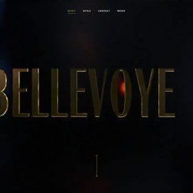 「Bellevoye」らしいウイスキーを感じるWEBデザイン