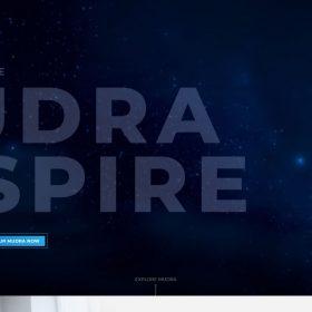 「Mudra Inspire」未来を感じるウェアラブルデバイスのWEBデザイン