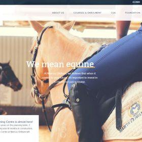 「Marcus Oldham」農業、アグリビジネス、馬を学ぶための学校のWEBデザイン