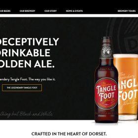 """""""Badger Beers"""" 歴史を感じるビール醸造所のサイトデザイン"""