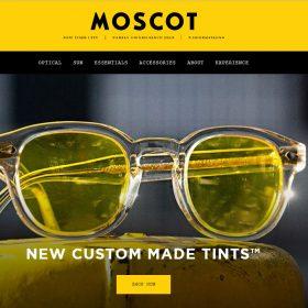 """""""MOSCOT"""" ニューヨークの歴史あるメガネ屋のホームページ"""