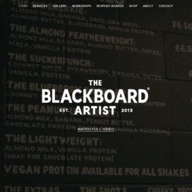 The Blackboard Artist、ロンドンに拠点をおく黒板アーティストのサイト