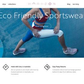 Horizon Athletic、エコな女性用スポーツウェアを扱っているブランドサイト