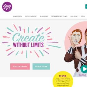 「Spun Candy」手作りのキャンディーや菓子製品とその教室のサイト