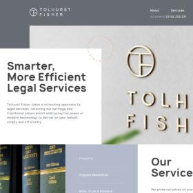 Tolhurst Fisher、法律サービスを提供しているサイトです。